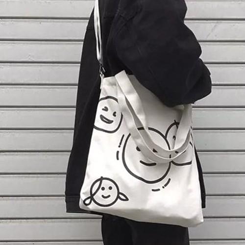 【バッグ&シューズ】プリント大容量カートゥーン帆布 ファスナーバッグ26703619