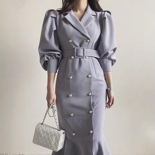 rétro frill dress 3color