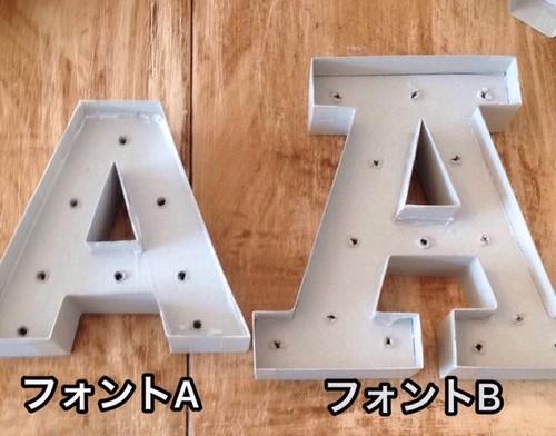 マーキーレター立体文字  A~Z 16㎝~20㎝