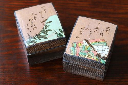 百人一首 組蓋物「 大弐三位 」 作:水野健一郎・秋艸窯(美濃焼)