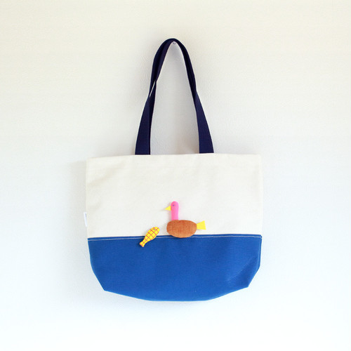 "& MASCOTS "" TOTE BAG _ BIRD & FISH """
