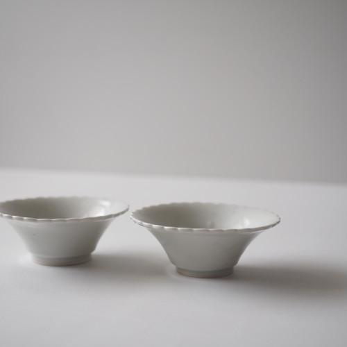 林健二 白磁フリンジ小鉢
