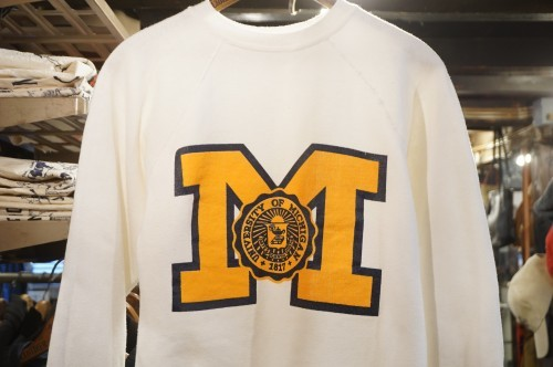 70's white college logo Sweatshirt
