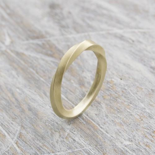 ブラスツイストリング 2.0mm幅 マット 3号~27号|WKS TWIST RING 2.0 bs matte|BRASS 真鍮 指輪 FA-190