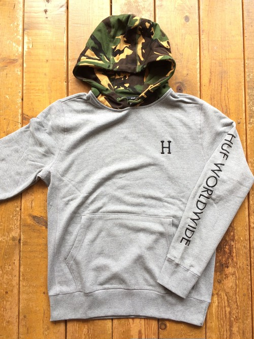 [ HUF ] VOYAGE FRENCH TERRY HOODIE ATHLETIC HEATHER