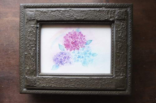 原画『雨上り紫陽花』
