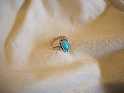 <vintage silver925>turquoise ring(A)