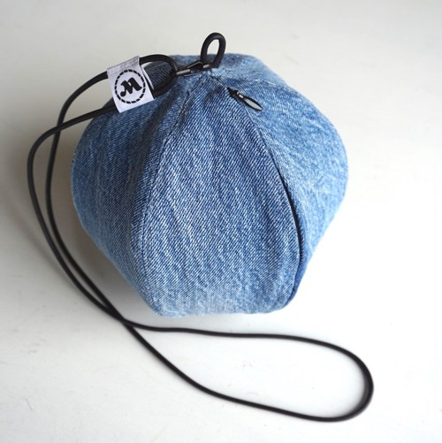 """BALL POUCH"" Used Denim"