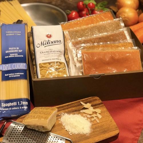 【ギフト専用☆プレミアムセット】パスタソース5種&おすすめパスタ2種&プロ仕様の調味料の贅沢セット!