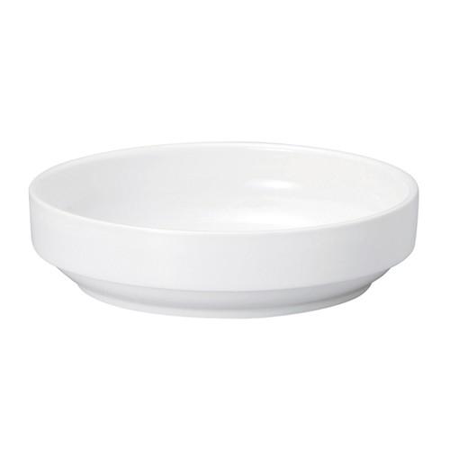 【1715-0000】強化磁器 17cm すくいやすい食器  白無地