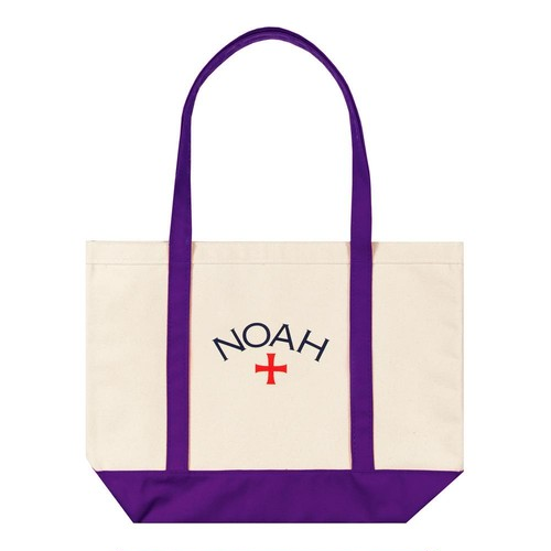 Two-Tone Core Logo Tote(Purple)