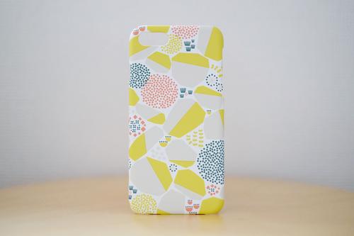 iPhone7/8 ケース「石垣/黄色」