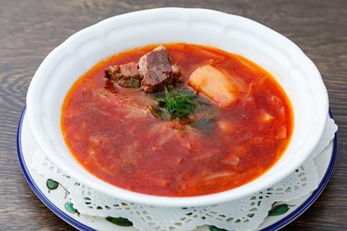 ボルシチ 牛肉と野菜のビーツ風味スープ(1.5人前)