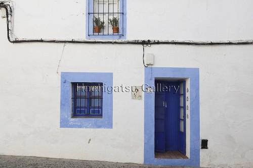【A3サイズのパネル】青い扉と窓