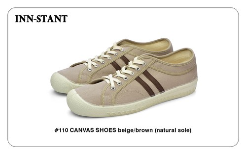 #110 CANVAS SHOES beige/brown (natural sole) INN-STANT インスタント 【消費税込・送料無料】