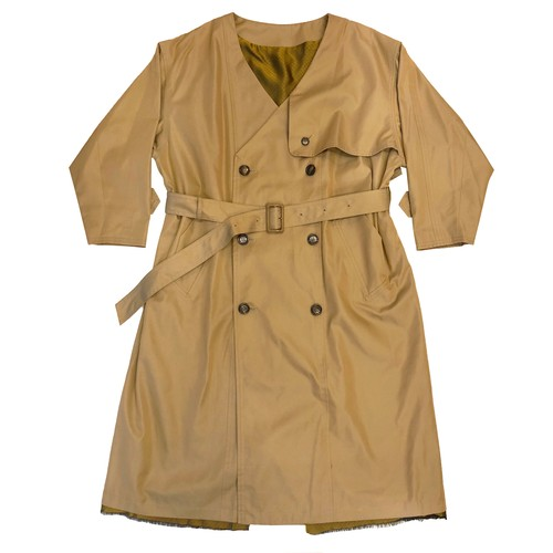 v neck wide trench coat / khaki(ladies)