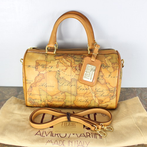 .PRIMA CLASSE MAPS PATTERNED 2WAY SHOULDER BAG MADE IN ITALY/プリマクラッセ地図柄2wayショルダーバッグ 2000000037332