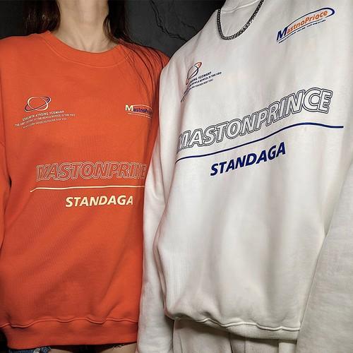 ★UNISEX MASTONPRINCEプリントMTM(White,Orange)  14800