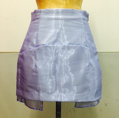 organdie mini skirt
