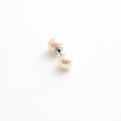MAYU/PEARL RIVETS 8mm white/9mm white (片耳)