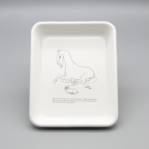 いのくまさんの琺瑯「馬」 バット(全白)手札