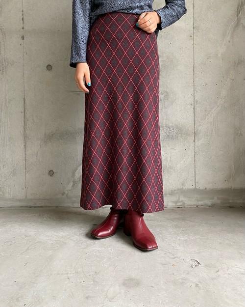 (PAL) plaid long skirt