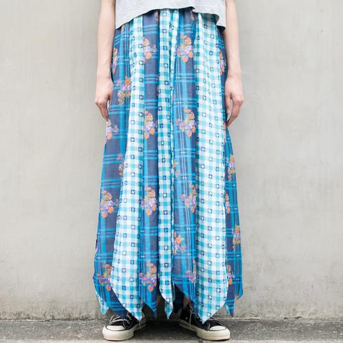 """""""I.MAGNIN"""" Ptachwork Skirt"""