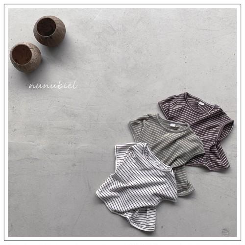 【予約販売】honey stripe T-shirt〈nunubiel〉