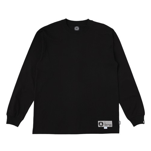 EXAMPLE COOL MAX FABRIC TAG L/S TEE / BLACK x GRAY