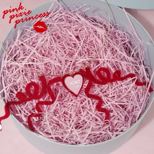 ●PPP● xoxo Sweethearts ribbon チョーカー / clear red ×pink