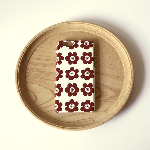 anemone ( brown ) スマホケース - S / M サイズ 【受注生産】