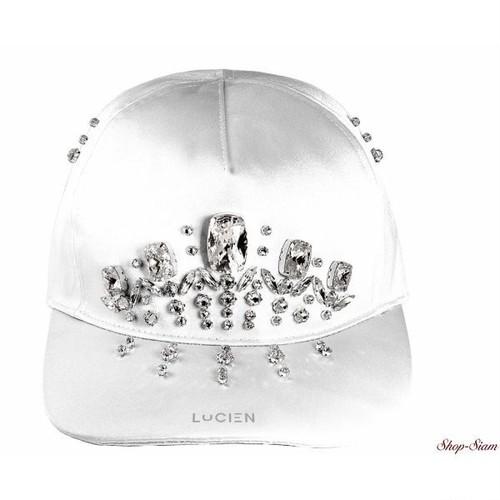ミス ルシアン サテンキャップ・帽子/Miss Lucien Satin Cap <White×White>