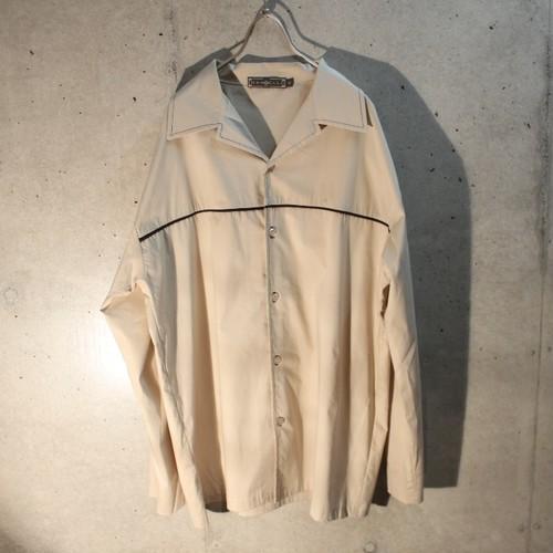 90s~ Dead Stock Long Sleeve Open Collar Design Shirt