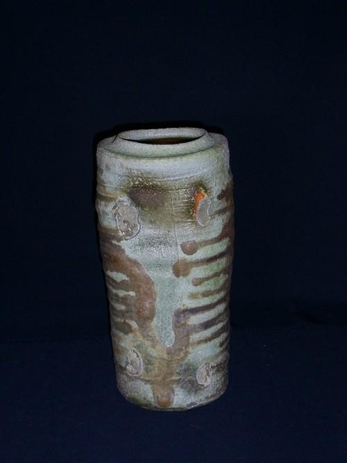 【わけあり品】自然釉筒花生
