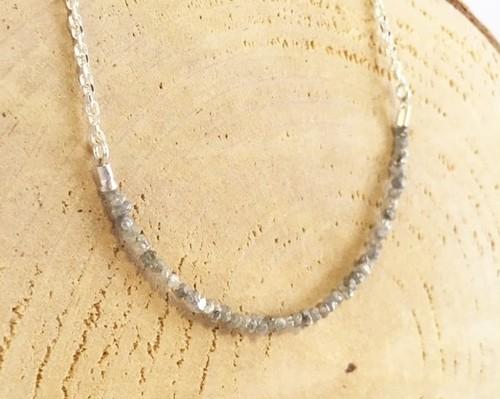 天然ダイアモンド原石 Silver ネックレス