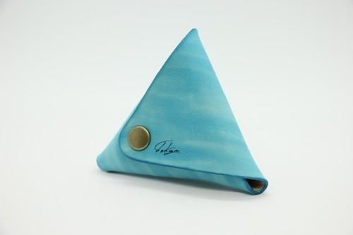 美しい三角コインケース(空)