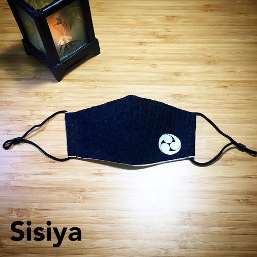 【S-10】 新選組 家紋 土方歳三 手作り 3D・立体 大人フリーサイズ マスク