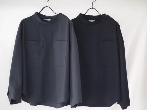 【MANON】MOCK NECK PULLOVER SHIRT