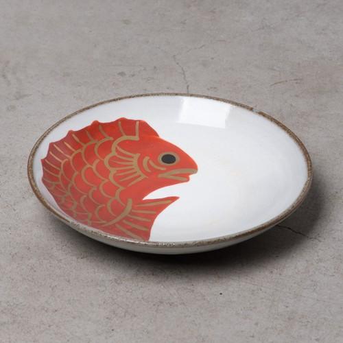 めで鯛  粉引  銘々皿