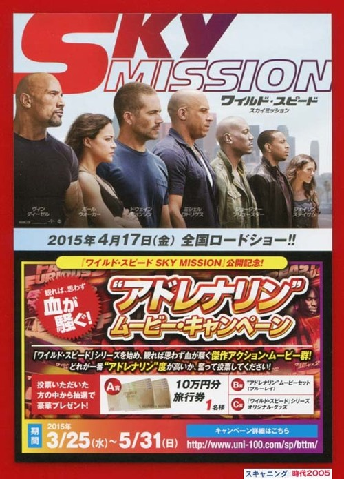 (3)ワイルド・スピード SKY MISSION スカイミッション