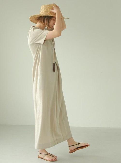 TODAYFUL (トゥデイフル) Halfsleeve Tuck Dress 21春夏.予約【12110332】マキシワンピース