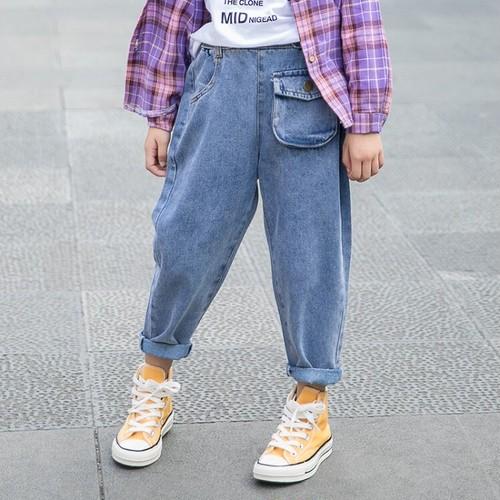 (KIDS)ポケットデニムパンツ キッズデニム キッズパンツ 子供服 キッズ服 キッズ 韓国ファッション