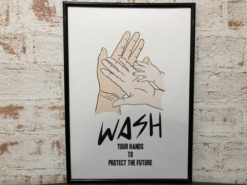 アートポスター おしゃれインテリア WASH YOUR HANDS