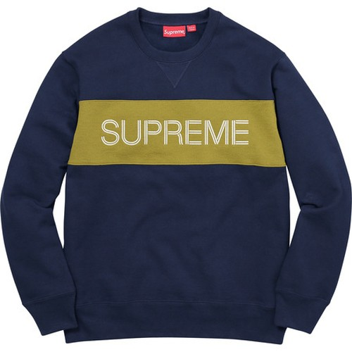 Supreme Zig Zag Stitch Panel Crewneck