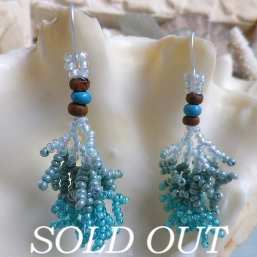 Coralreef motif Pierce -Turquoise×Gradation-