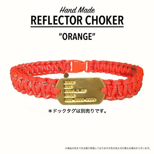 リフレクターチョーカー オレンジ