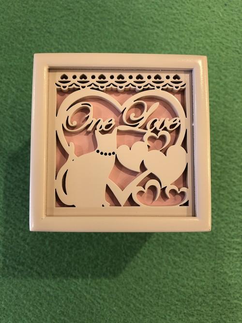 木製メロディボックス(ネコ) ♪One Love