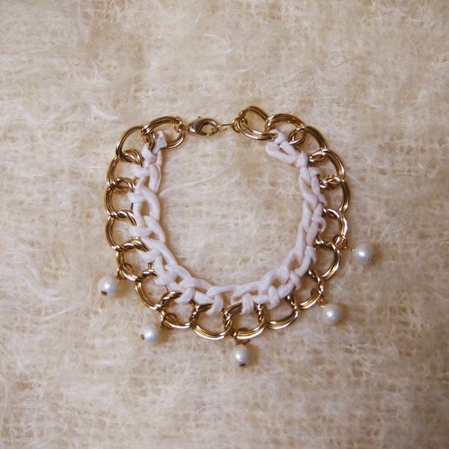 Cotton Pearl Bracelet (WHITE)