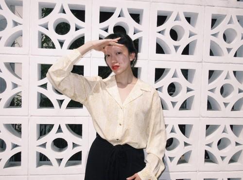 Vintage Escada silk blouse 80s