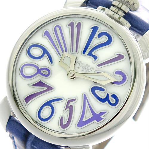 ガガミラノ GAGA MILANO マニュアーレ MANUALE 40mm 腕時計 クオーツ メンズ レディース 5020.3 ホワイト ブルー ホワイト